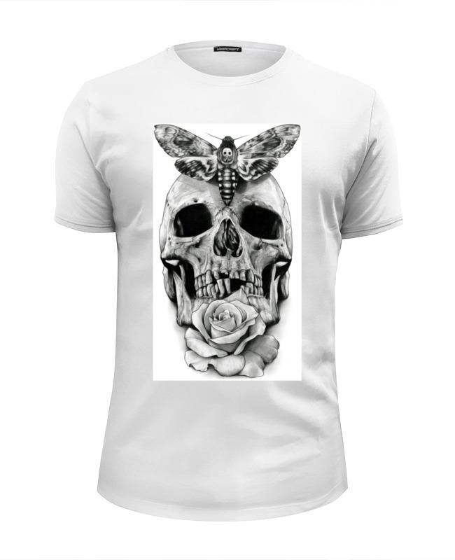 Футболка Wearcraft Premium Slim Fit Printio Skull - 10 футболка wearcraft premium slim fit printio floral skull