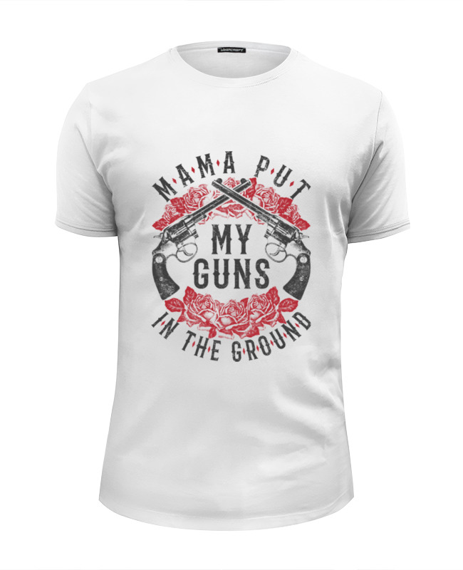 Футболка Wearcraft Premium Slim Fit Printio Guns n' roses d203 starter 2 guns tattoo complete kit