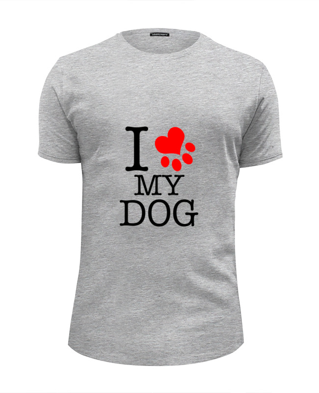 Футболка Wearcraft Premium Slim Fit Printio I love my dog футболка print bar i love my bike