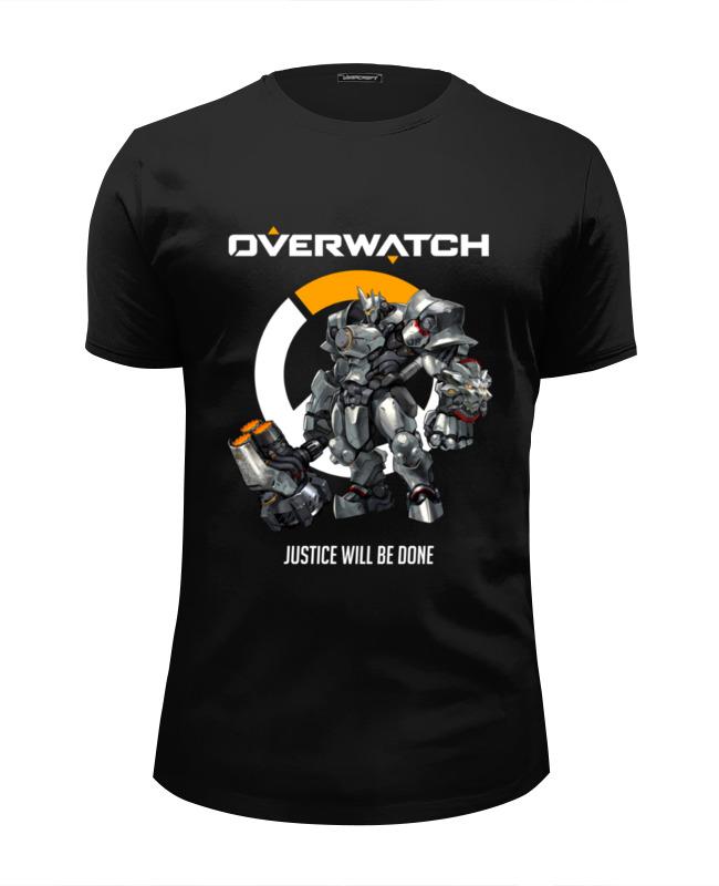 Футболка Wearcraft Premium Slim Fit Printio Overwatch. райнхардт