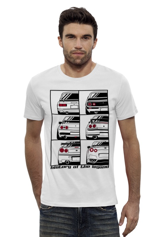 Футболка Wearcraft Premium Slim Fit Printio Skyline history футболка wearcraft premium slim fit printio nissan skyline r34