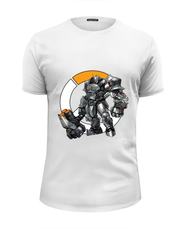 Футболка Wearcraft Premium Slim Fit Printio Reinhardt overwatch  райнхардт овервотч