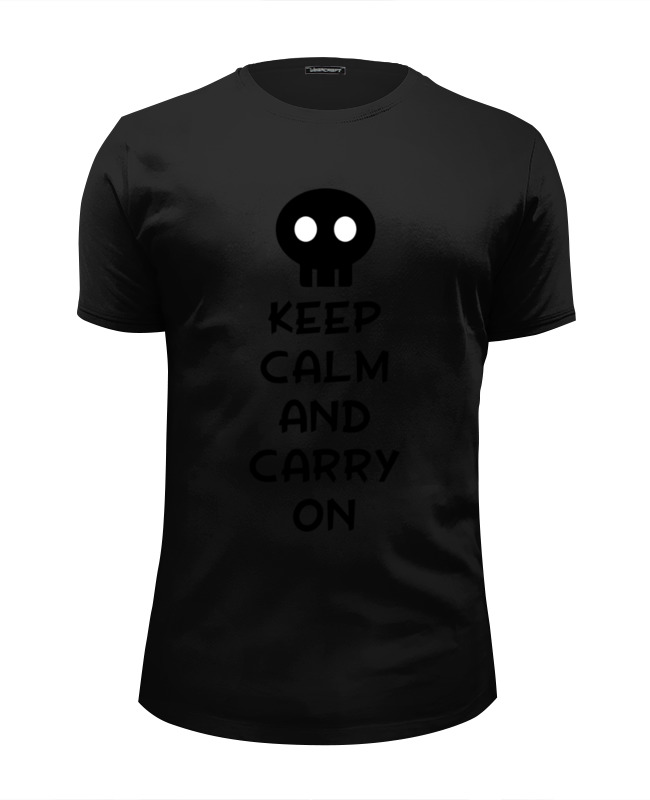 Футболка Wearcraft Premium Slim Fit Printio Keep calm and carry on лонгслив printio keep calm and carry on