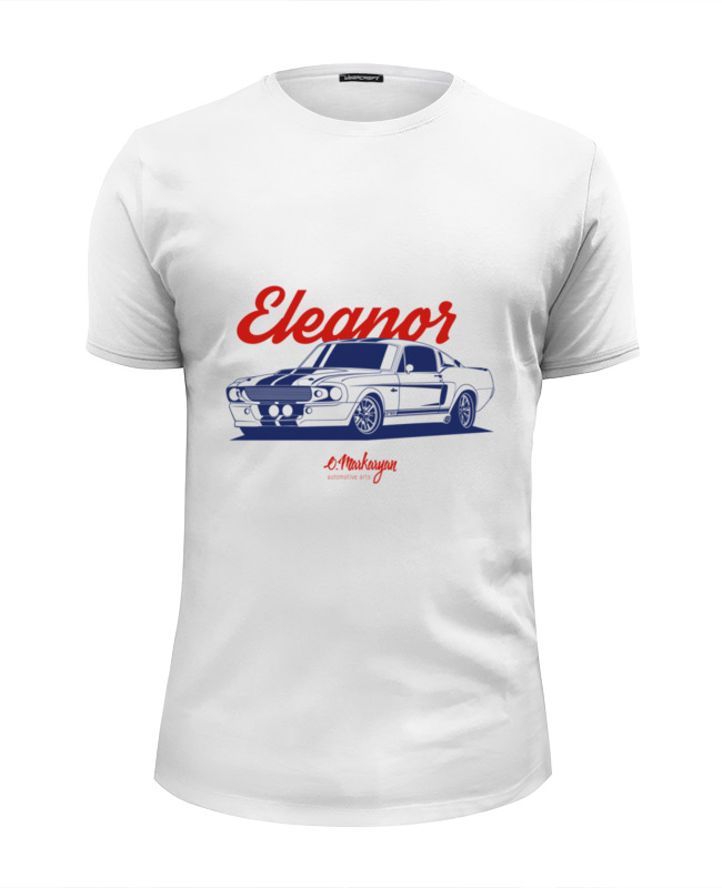 Футболка Wearcraft Premium Slim Fit Printio Mustang eleanor лонгслив printio mustang eleanor