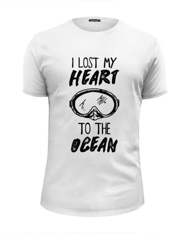 Футболка Wearcraft Premium Slim Fit Printio I lost my heart to the ocean