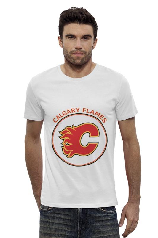 Футболка Wearcraft Premium Slim Fit Printio Calgary flames, футболка wearcraft premium printio calgary flames