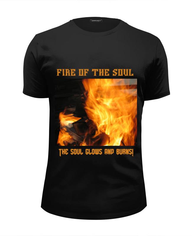 Футболка Wearcraft Premium Slim Fit Printio Fire ! / огонь !!! the fire