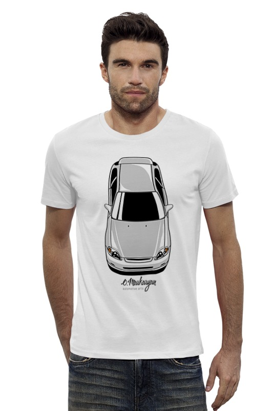 Футболка Wearcraft Premium Slim Fit Printio Honda civic ek деталь шасси oem vr 7 lca 1996 2000 honda civic ek ej