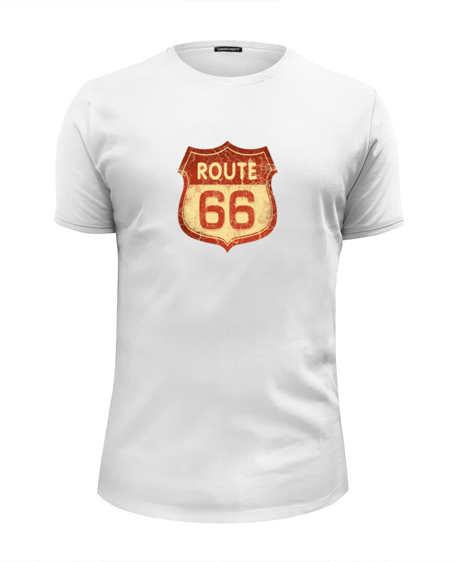Футболка Wearcraft Premium Slim Fit Printio Route 66 juan sempere y guarinos considerations sur les causes de la grandeur et de la decadence de la monarchie espagnole t 2