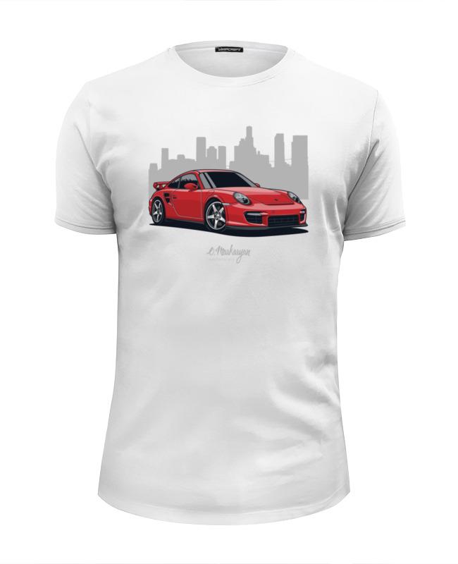 Футболка Wearcraft Premium Slim Fit Printio Porsche 997 gt2