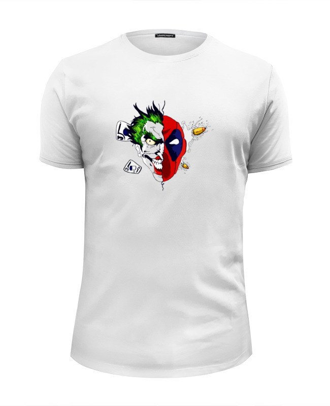 Футболка Wearcraft Premium Slim Fit Printio Joker x deadpool сумка printio joker x deadpool