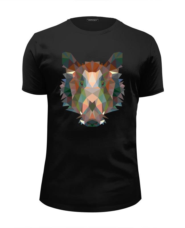 Printio Полигональный кабан футболка wearcraft premium slim fit printio полигональный лев