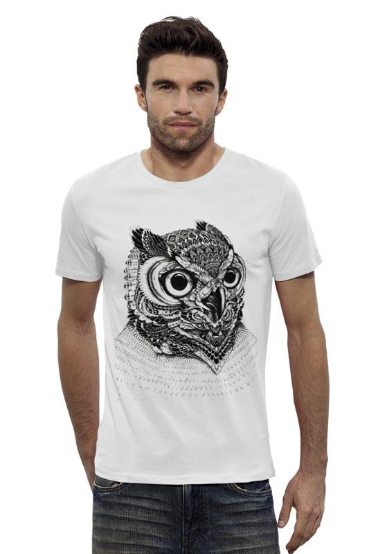 Футболка Wearcraft Premium Slim Fit Printio Монохромная сова футболка wearcraft premium slim fit printio ночная сова