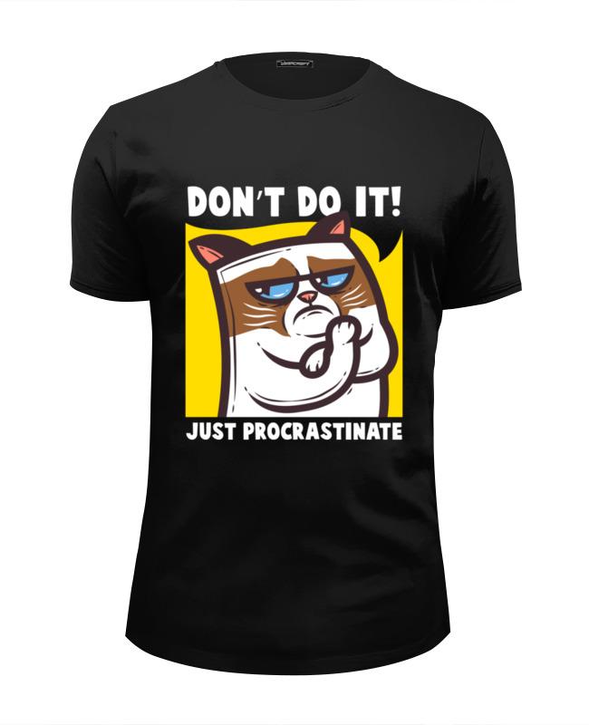 Футболка Wearcraft Premium Slim Fit Printio Угрюмый кот (grumpy cat) футболка wearcraft premium slim fit printio грустный кот grumpy cat