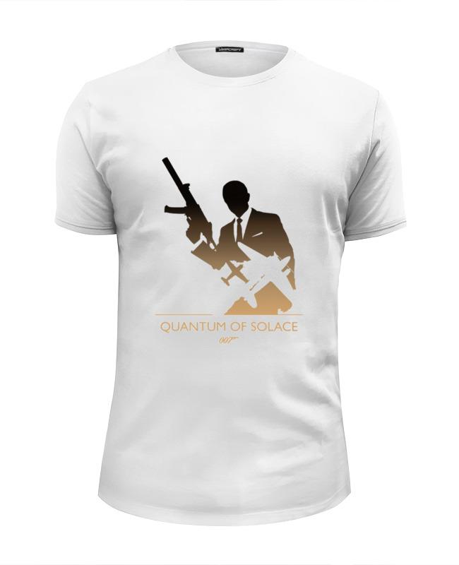 Футболка Wearcraft Premium Slim Fit Printio 007: квант милосердия квазиэлектронная атс квант