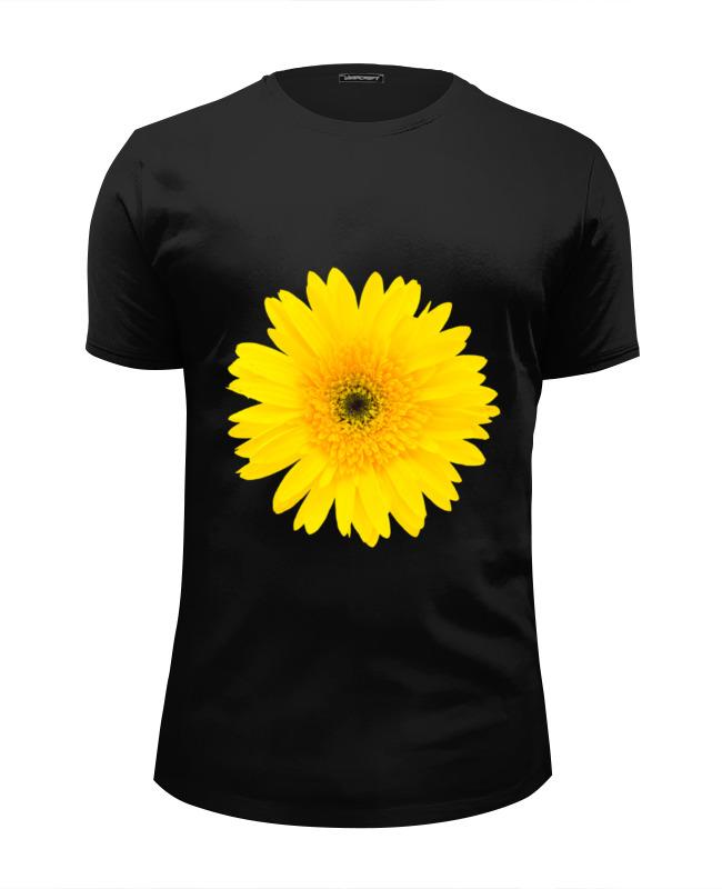 Футболка Wearcraft Premium Slim Fit Printio Желтый цветок цена