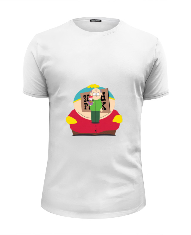 Фото - Футболка Wearcraft Premium Slim Fit Printio Эрик картман футболка рингер printio эрик картман