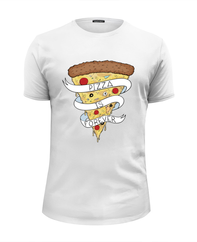 Футболка Wearcraft Premium Slim Fit Printio Пицца навсегда (pizza forever) цена