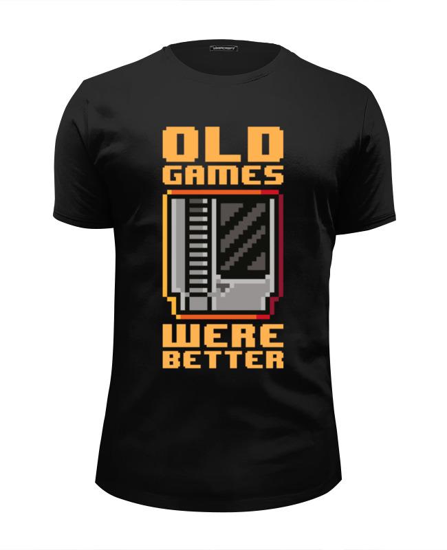 Футболка Wearcraft Premium Slim Fit Printio Старые игры были лучше! футболка wearcraft premium slim fit printio игры гомера