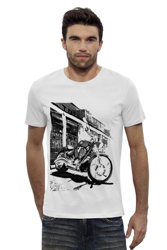 Футболка Wearcraft Premium Slim Fit Printio Мотоциклы мотоциклы