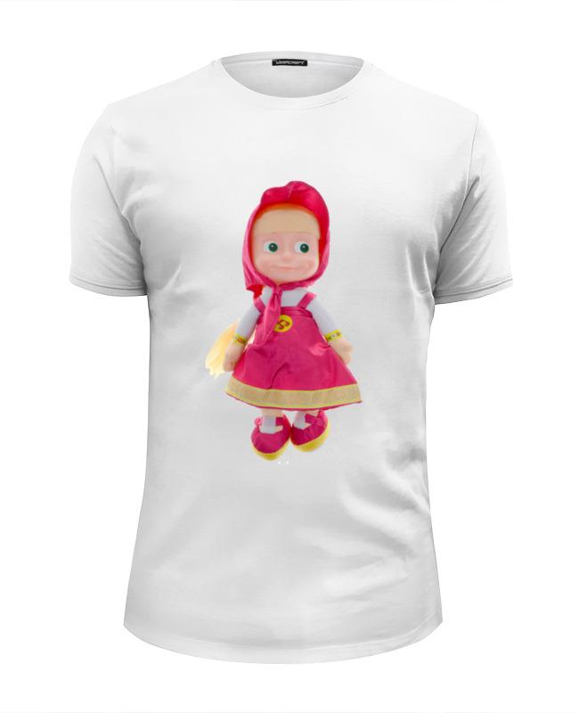 Футболка Wearcraft Premium Slim Fit Printio Кукла-девочка маша из мульта. смешная озорная. кукла yako m6579 6