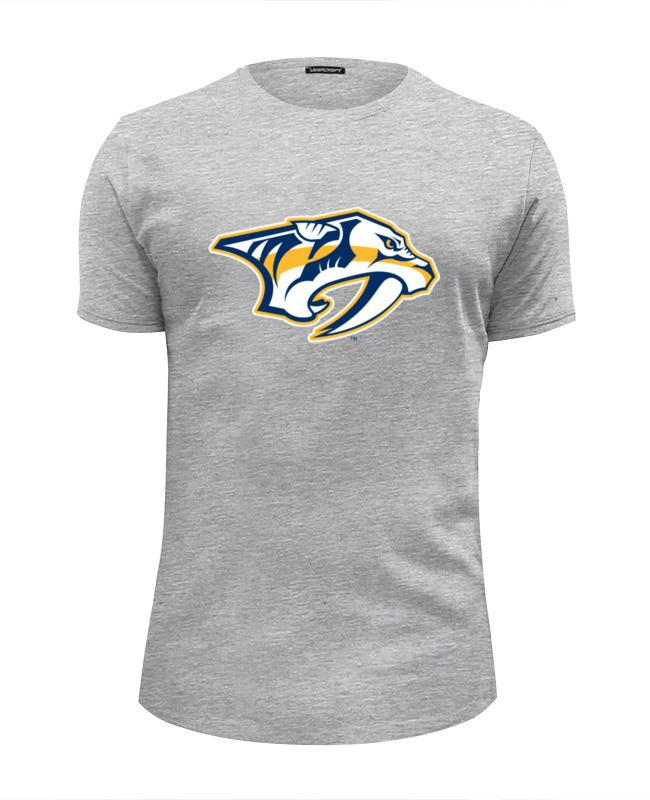 Футболка Wearcraft Premium Slim Fit Printio Nashville predators / nhl usa