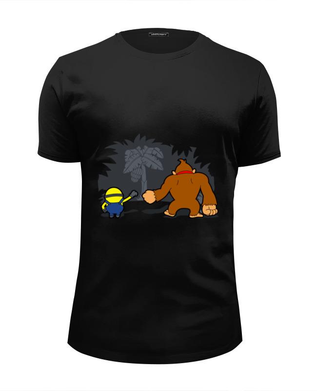Футболка Wearcraft Premium Slim Fit Printio Миньон и донки конг футболка wearcraft premium slim fit printio миньон