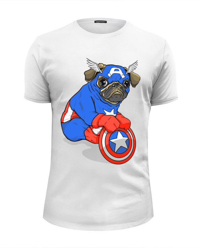 Printio Captain pug футболка wearcraft premium printio pug bone