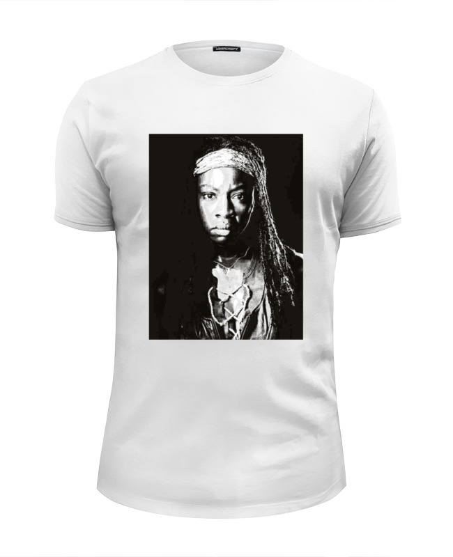 Футболка Wearcraft Premium Slim Fit Printio The walking dead michonne bringing up the dead