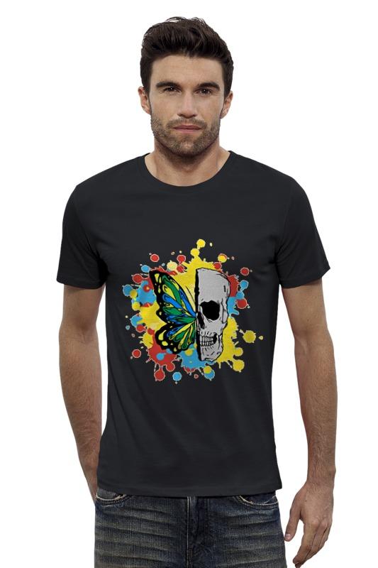 Футболка Wearcraft Premium Slim Fit Printio Череп и бабочка футболка классическая printio череп и бабочка