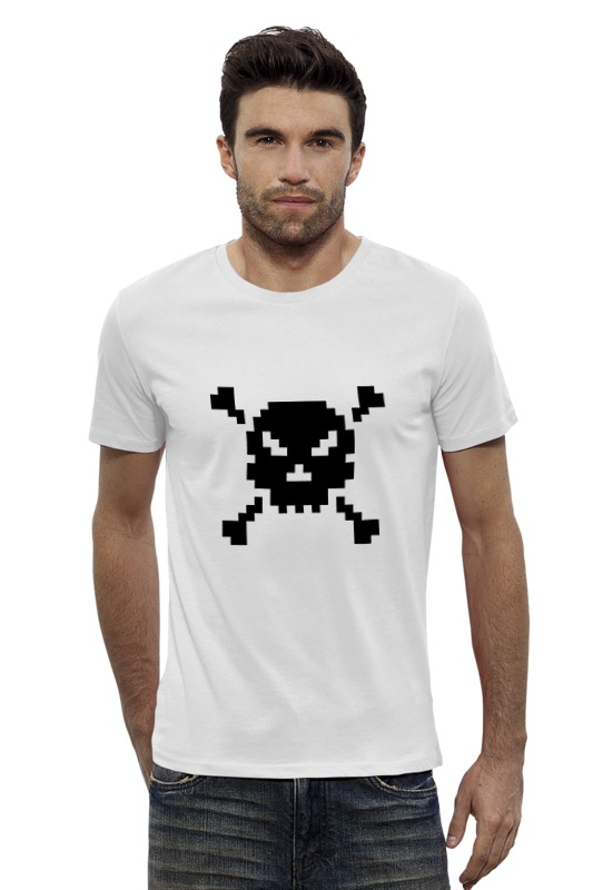 Футболка Wearcraft Premium Slim Fit Printio Pixel art skull футболка wearcraft premium slim fit printio psy art arsb