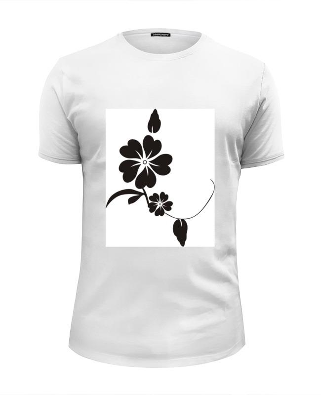 Футболка Wearcraft Premium Slim Fit Printio Черный цветок футболка wearcraft premium slim fit printio черный цветок