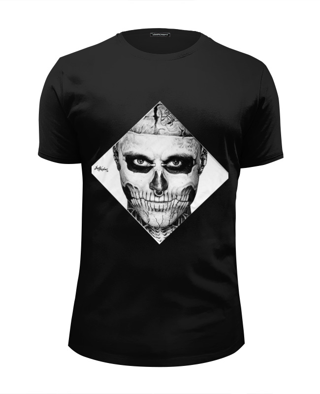цены Футболка Wearcraft Premium Slim Fit Printio Rick genest