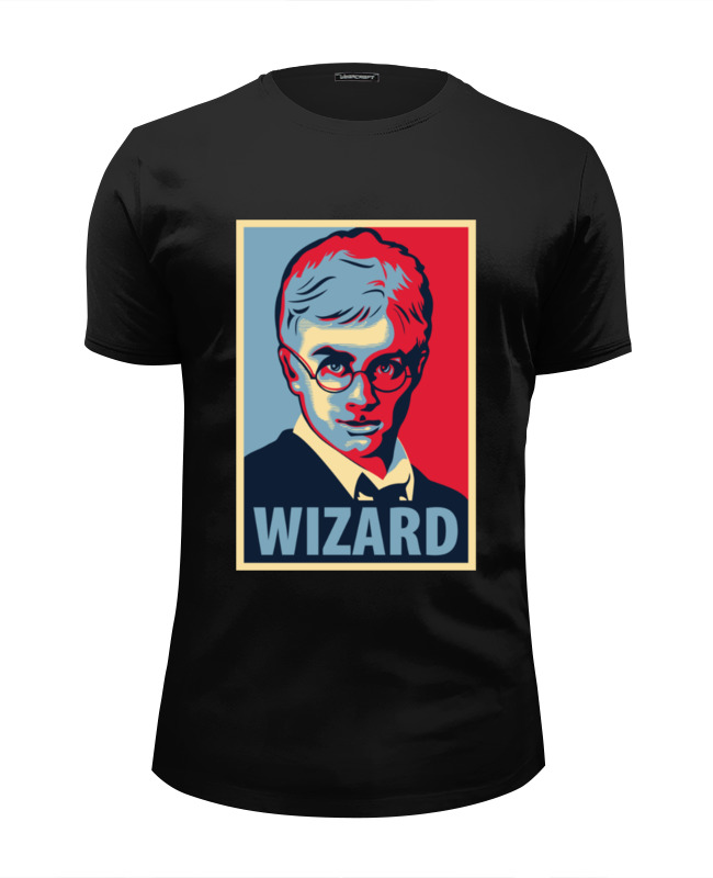 Футболка Wearcraft Premium Slim Fit Printio Obey wizard