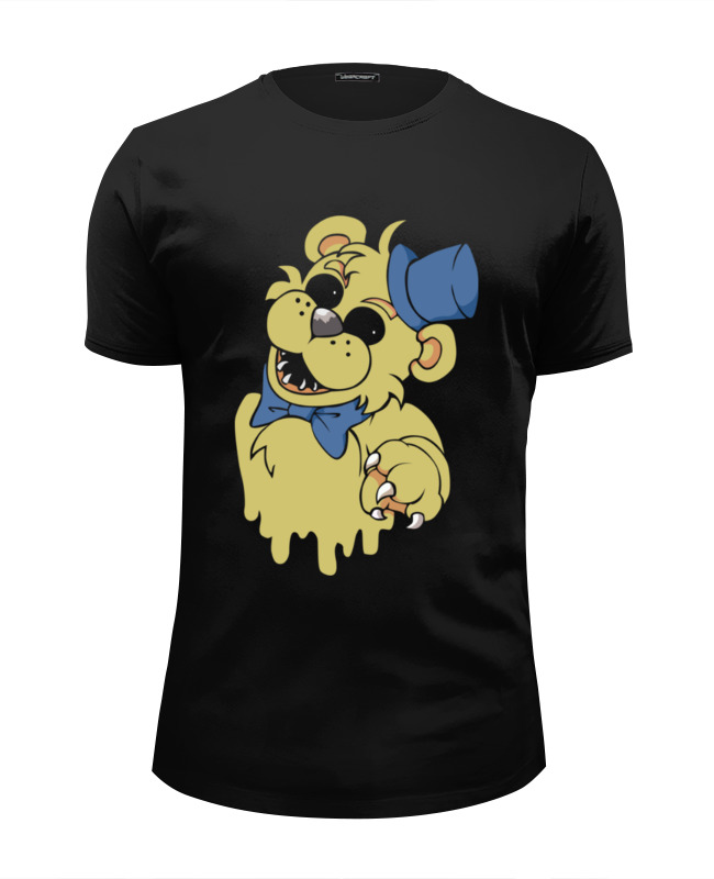 Футболка Wearcraft Premium Slim Fit Printio Golden freddy