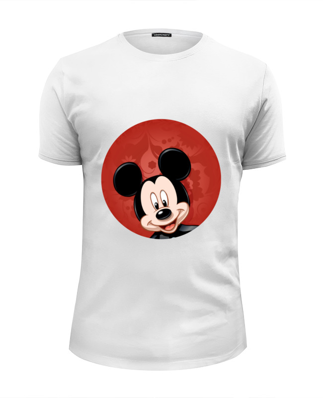 Футболка Wearcraft Premium Slim Fit Printio Микки маус мультяшный герой футболка print bar mickey mouse микки маус