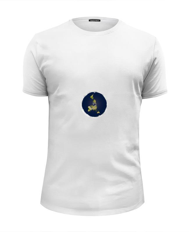 Футболка Wearcraft Premium Slim Fit Printio плоская земля (женская, белая) футболка женская белая