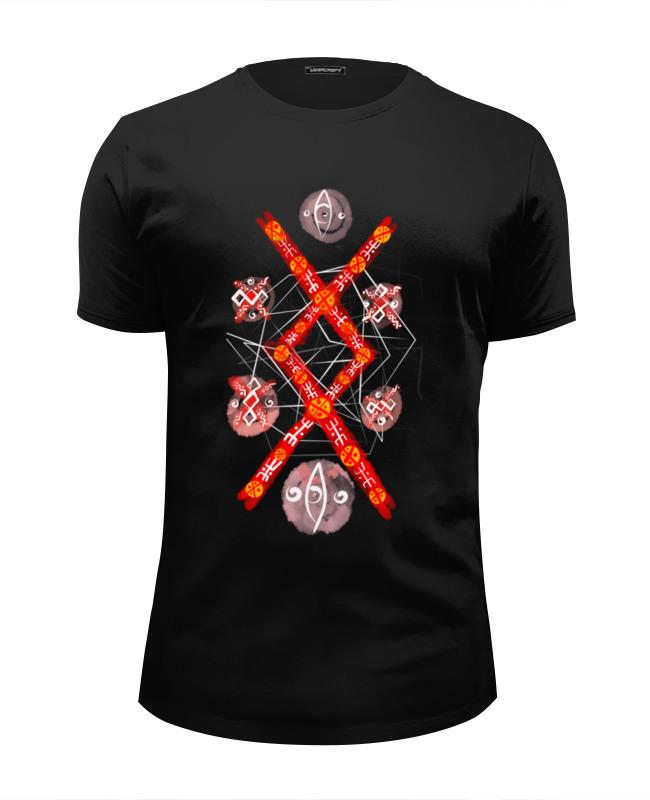 Футболка Wearcraft Premium Slim Fit Printio Руна защиты футболка print bar руна любви