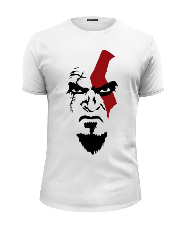 Футболка Wearcraft Premium Slim Fit Printio Kratos. mortal kombat god of war toy kratos figure play arts kai model 10 26cm