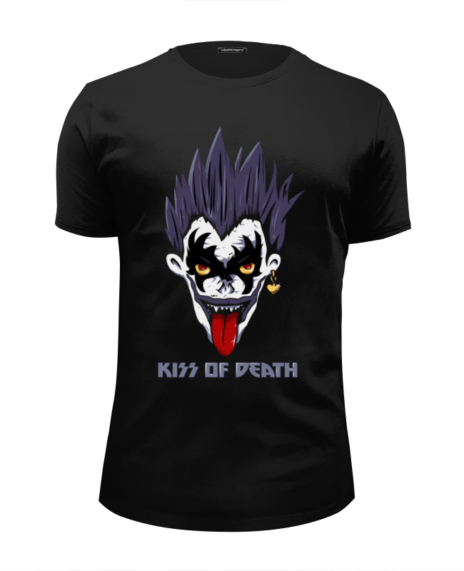 Футболка Wearcraft Premium Slim Fit Printio Kiss of death (тетрадь смерти) футболка wearcraft premium slim fit printio cute like death