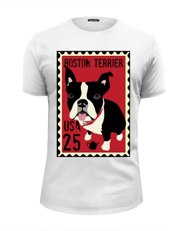 Футболка Wearcraft Premium Slim Fit Printio Boston terrier