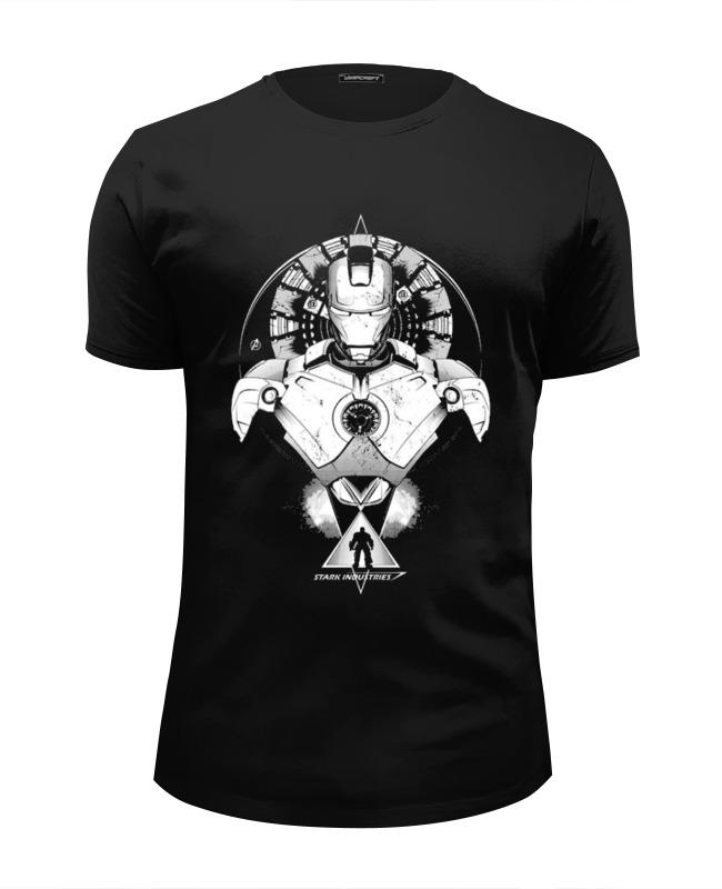 Футболка Wearcraft Premium Slim Fit Printio Железные человек футболка wearcraft premium slim fit printio spider man