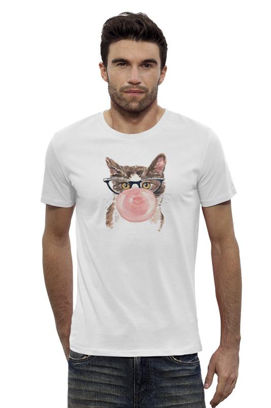 Футболка Wearcraft Premium Slim Fit Printio Забавная кошка купить бурманская кошка в омске