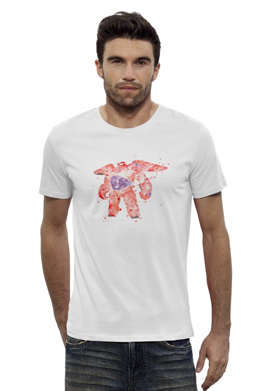 Футболка Wearcraft Premium Slim Fit Printio Baymax футболка wearcraft premium slim fit printio баймакс город героев