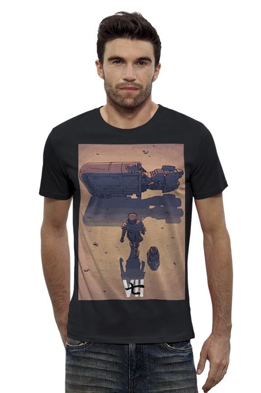 Футболка Wearcraft Premium Slim Fit Printio Star wars / akira ray's speeder/ спидер рэй