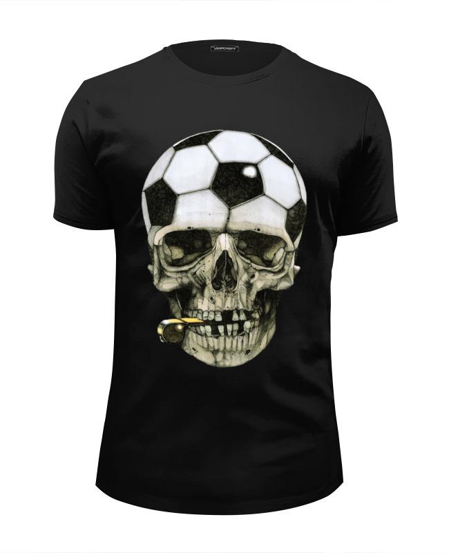 Футболка Wearcraft Premium Slim Fit Printio Футбольный череп (1)