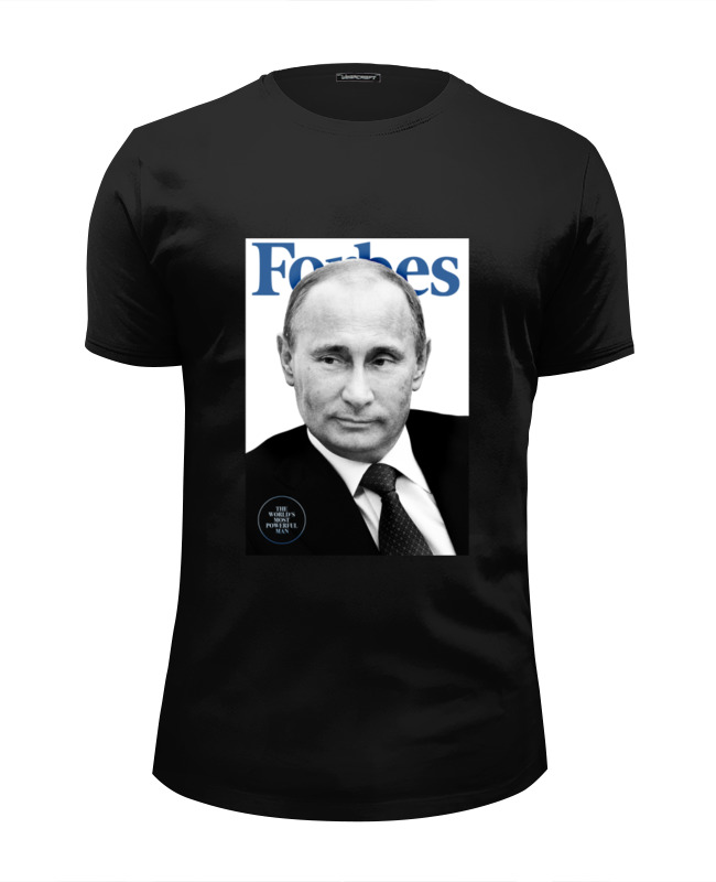 Футболка Wearcraft Premium Slim Fit Printio Putin forbes