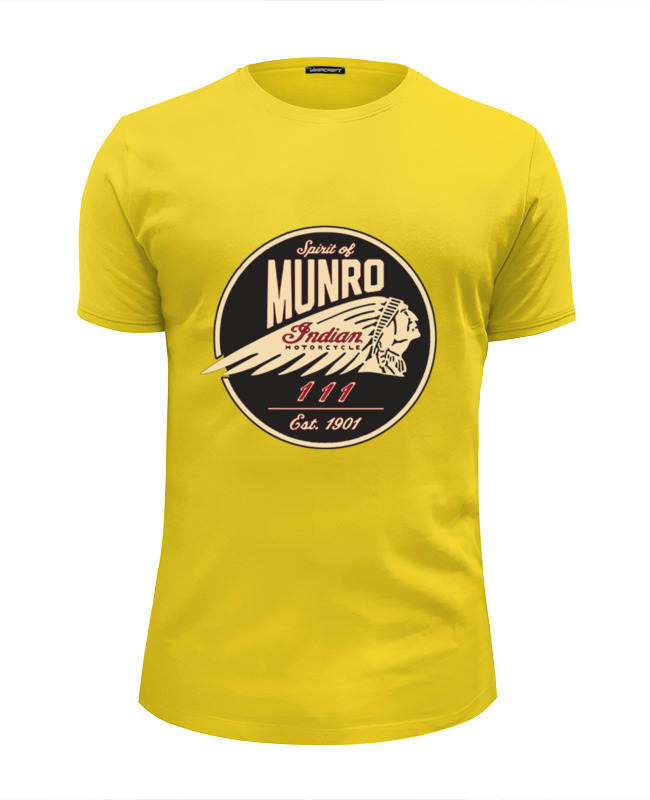 Футболка Wearcraft Premium Slim Fit Printio The spirit of munro. indian tom munro