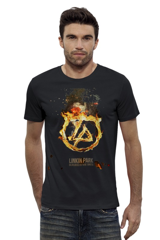Футболка Wearcraft Premium Slim Fit Printio Linkin park - burning in the skies cd диск linkin park recharged 1 cd