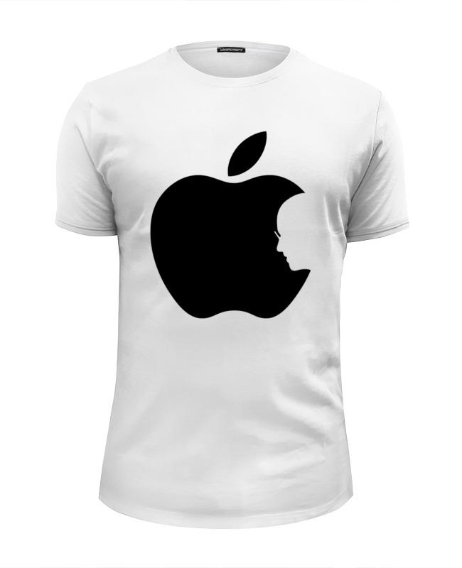 Футболка Wearcraft Premium Slim Fit Printio Apple (стив джобс) футболка wearcraft premium slim fit printio стив джобс